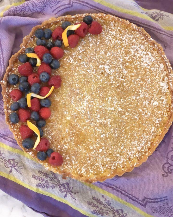 Meyer Lemon+Tart topped with fresh berries