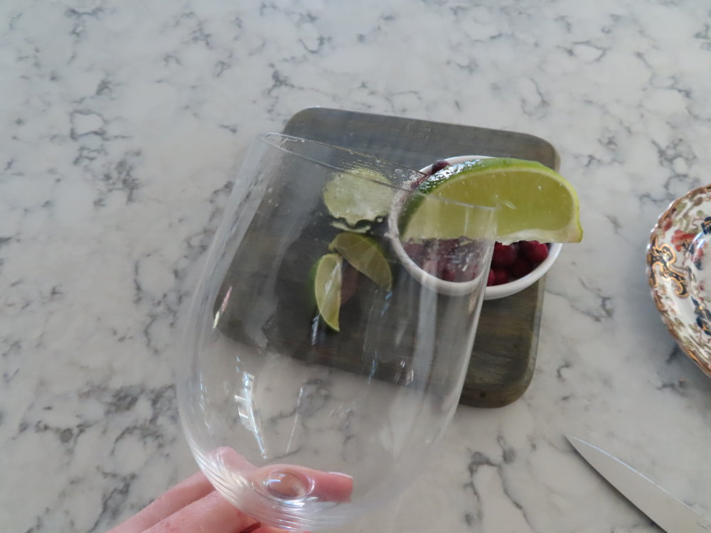 Sugar Rim - Cut a slit in the lime and run it around the rim of your glass.