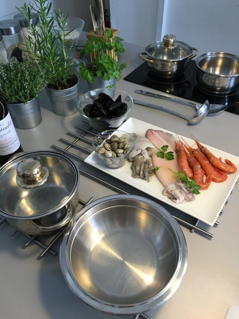 DeSocio in the Kitchen Spain Cooking Class Royal BCN ingredients