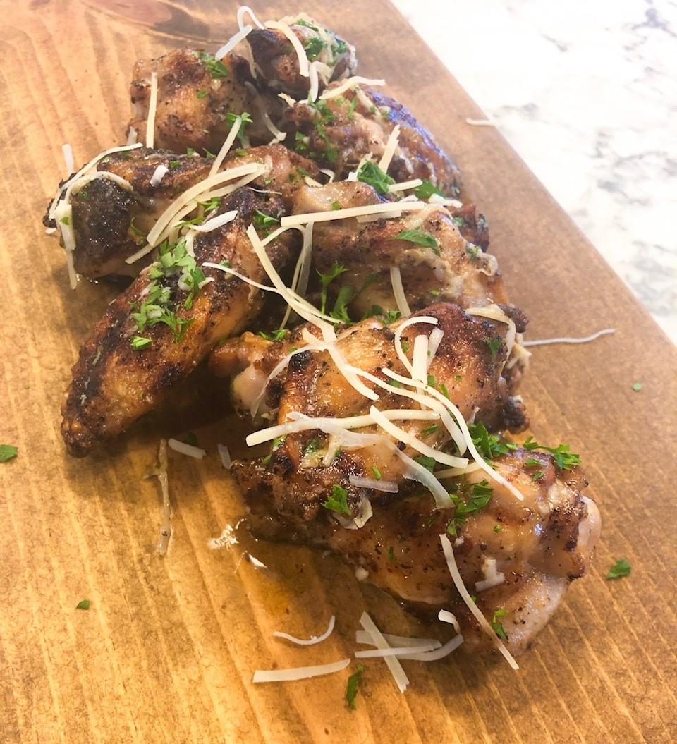 Italian Garlic Parmesan Chicken Wings