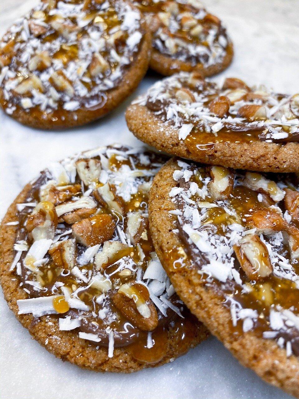 Nutella+Caramel+Gingerbread+Cookies