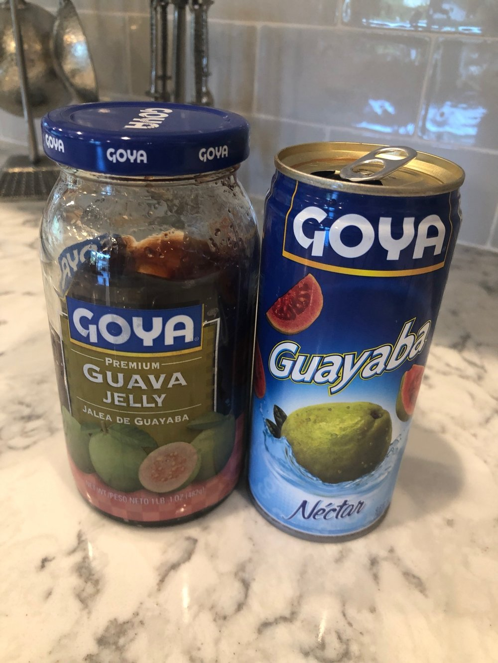 Guava products. Found in the international section of your grocery store.