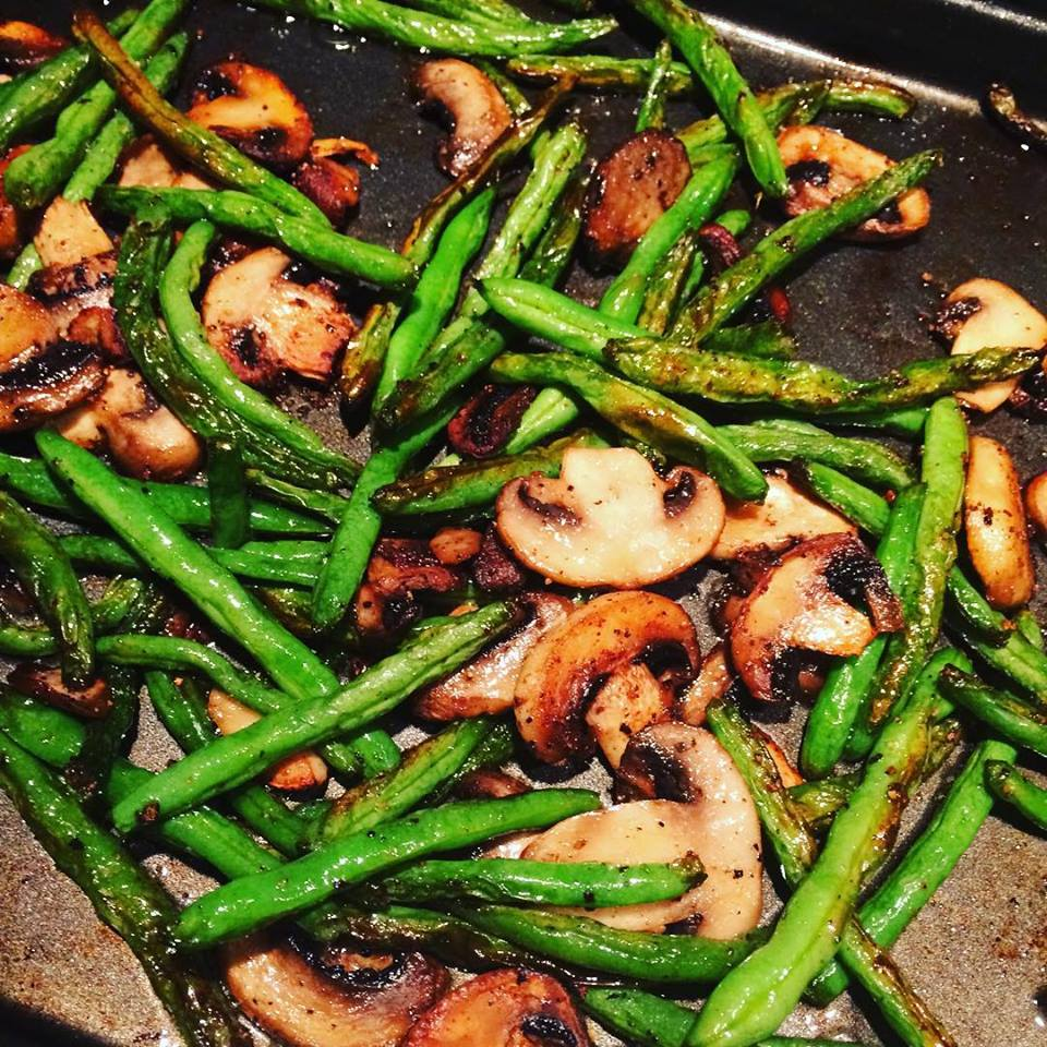 ROASTED_STRING BEANS-and-MUSHROOMS.