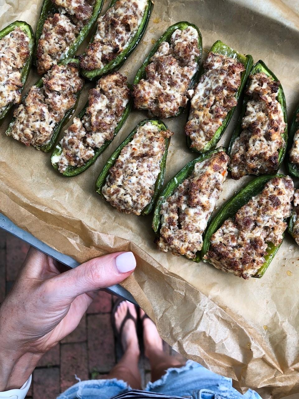 Sausage Jalapeño Poppers