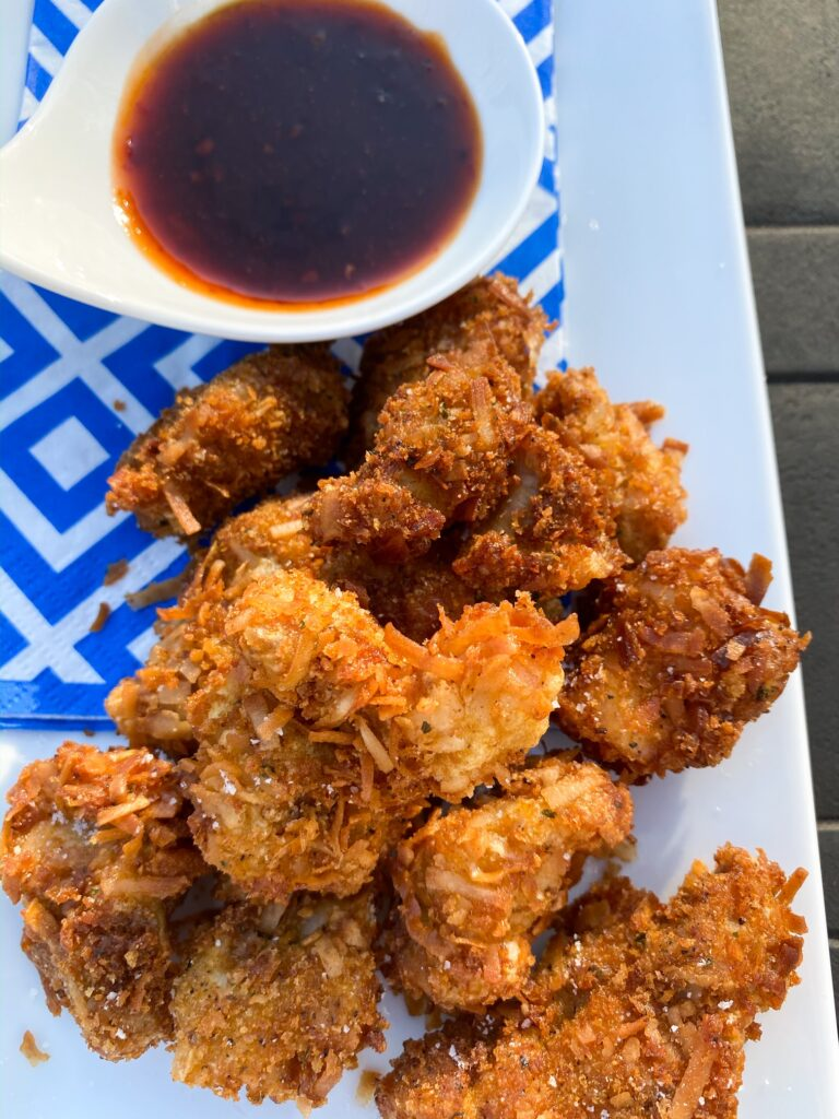 COCONUT CRUSTED CHICKEN BITES