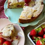 French Strawberry Ricotta Cake