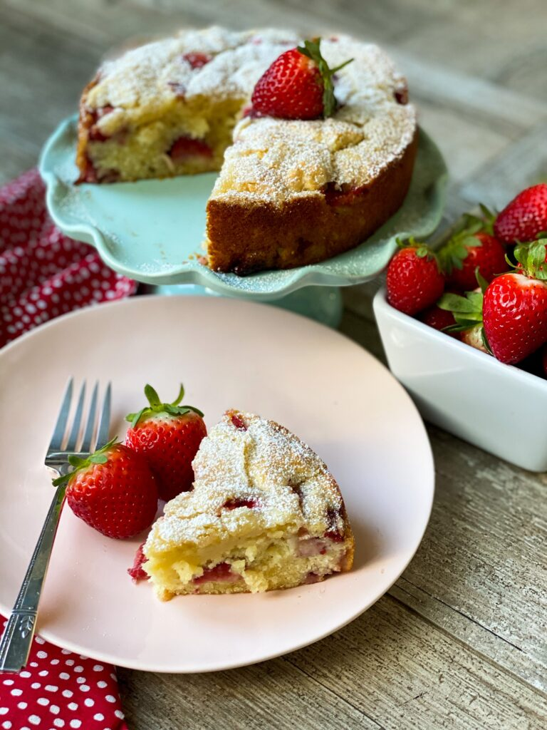 French Strawberry Ricotta Cake_1