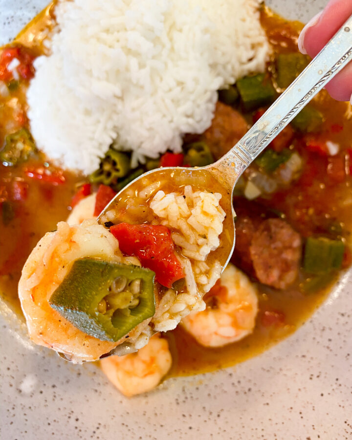 Quick and Easy Shrimp & Andouille Sausage Gumbo