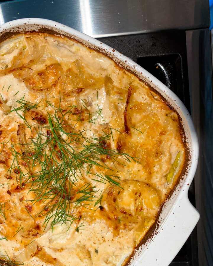 GRATIN POTATOES with FENNEL