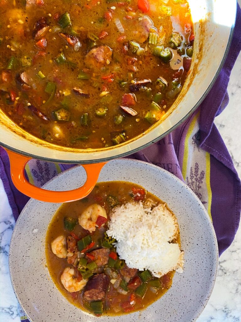 Quick and Easy Gumbo with andouille sausage