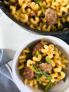 SAUSAGE AND ASPARAGUS PASTA_1