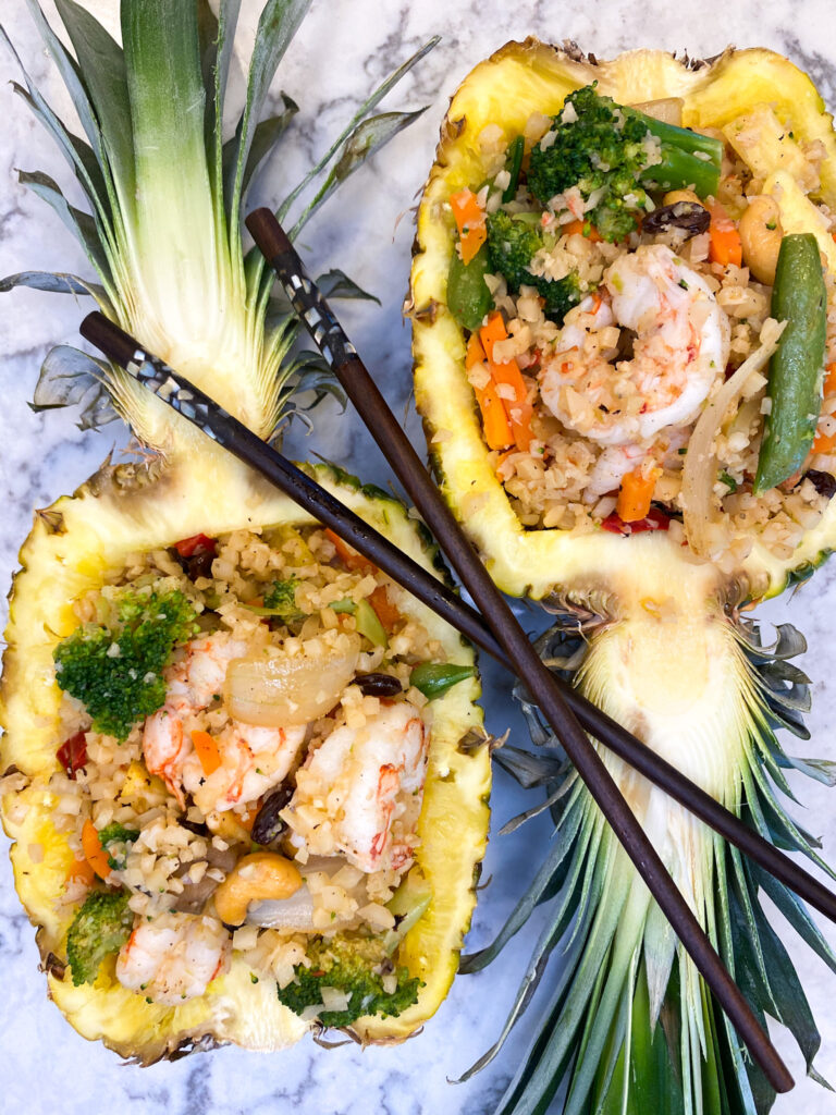 FRIED RICE and SHRIMP STUFFED PINEAPPLE_2