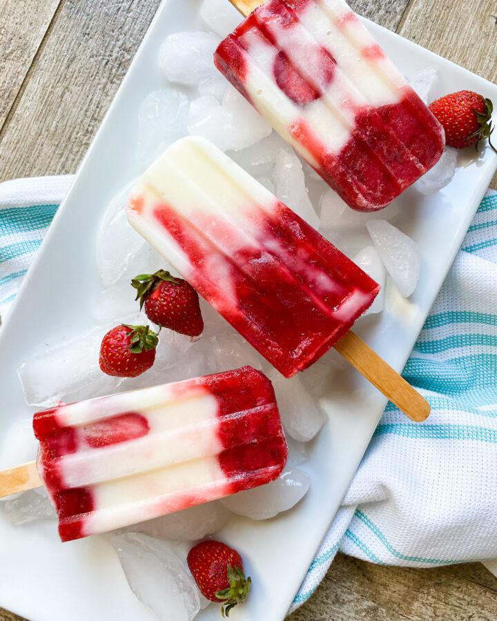 Strawberry Yogurt Popsicle
