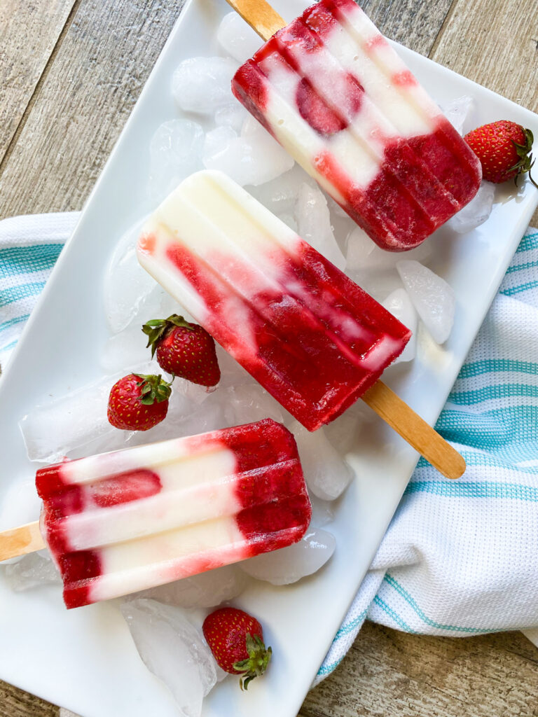 Strawberry Yogurt Popsicle
