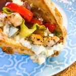 Greek Chicken Pita with Tzatziki