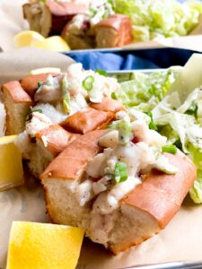 Mini LOBSTER ROLLS with a Caesar salad