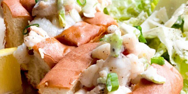 Mini LOBSTER ROLLS with a Caesar salad